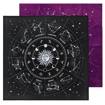12 konstelacji karty do tarota obrus aksamitna wróżbiarstwo ołtarz tkanina gra planszowa Fortune astrologia Oracle Card Pad tanie i dobre opinie OOTDTY CN (pochodzenie) GUGUJI222