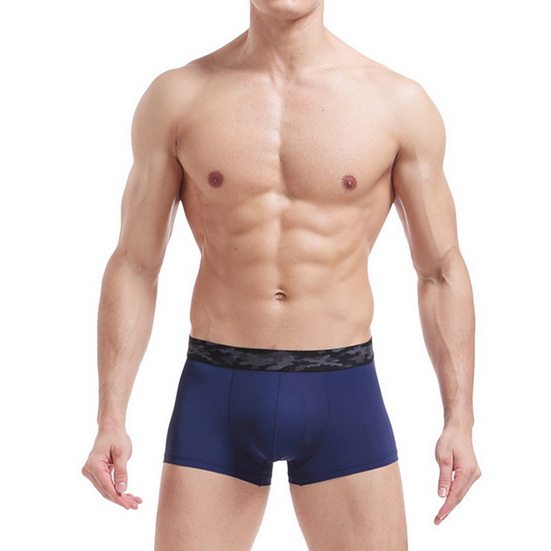 Ice Silk Underwear Men Boxers Men's Panties Summer One Piece Breathable Transparent Boxers Soft Men Underpants Boxer Para Hombre