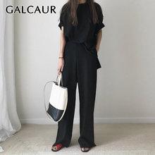 Повседневный комплект из двух предметов galcaur для женщин короткий