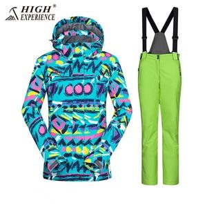 Image 5 - Costume hiver veste de Ski combinaison de Ski femmes veste dhiver femme veste de Snowboard Ski Sport costume imperméable Snowboard combinaison de neige