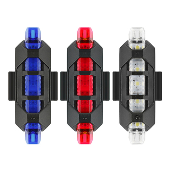 Bike Bicycle Light USB LED Rechargeable Set Mountain Cycle Front Back Headlight Lamp Flashlight Bike Cycling Light Warning Light image