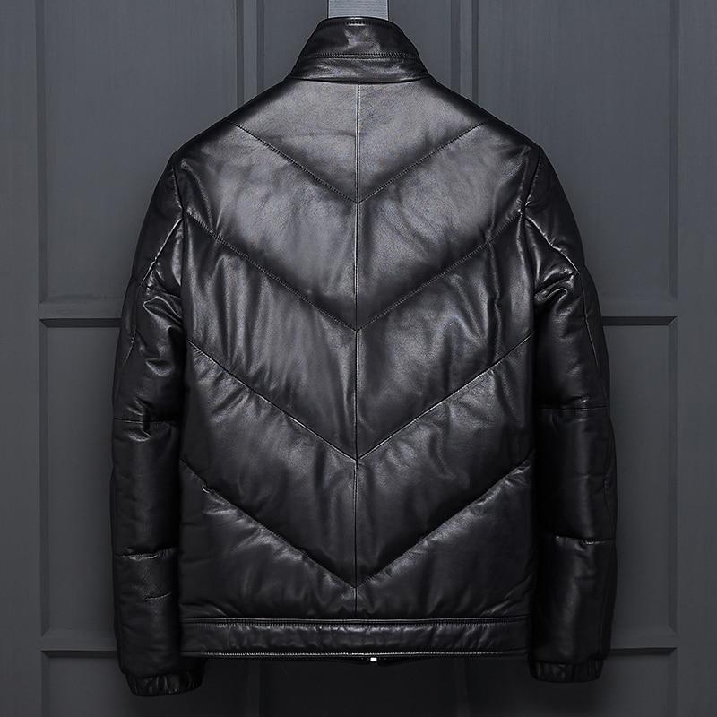 Genuine Leather Jacket Korean Winter Duck Down Jacket Men Sheepskin Coat Short Warm Blouson Cuir Homme LBL-7163 KJ1376