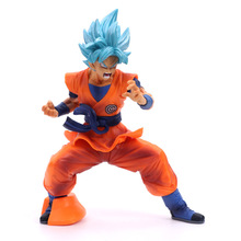 dragon ball z resolution of soldiers vol 1 son gokou vol 2 vegeta pvc collectible model 20 21cm kt3949 Dragon Ball Z SUPER Chouzetsu Son Gokou Super Saiyan Blue Hair Goku Figure Anime DBZ Action PVC Collectible Model Toys 18cm