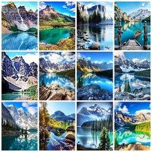 5D DIY Diamond Embroidery Mountain Handicrafts Full Square/Round Diamond Painting Landscape Cross Stitch Lake Home Decor Gift
