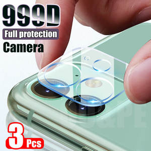 3PCS Camera Lens Tempered Glass For iPhone 11 12 Pro XS Max X XR Screen Protector On
