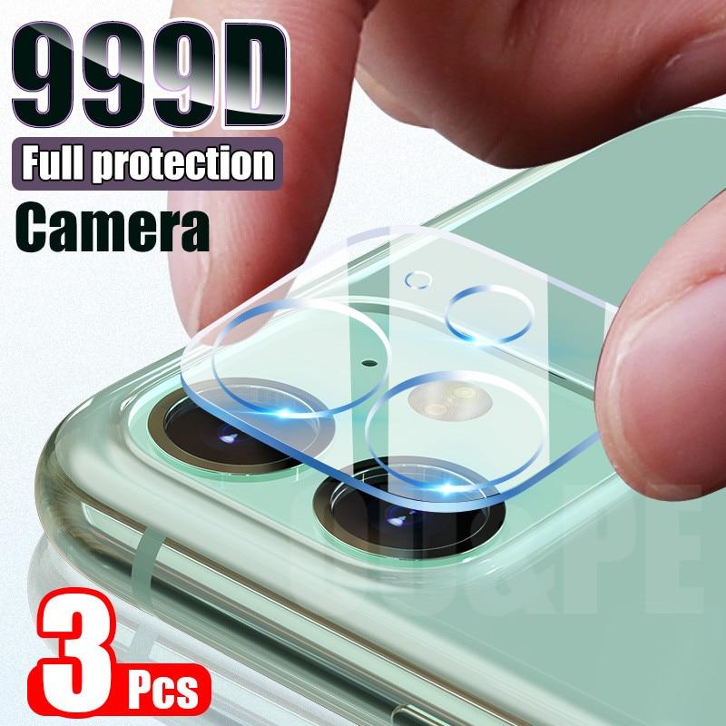 3 pçs lente da câmera de vidro temperado para iphone 11 pro xs max x xr protetor de tela para iphone 11 7 8 6s mais se câmera de vidro