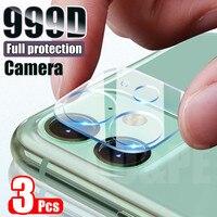 3 pezzi di vetro temperato per obiettivo della fotocamera per iPhone 11 12 Pro XS Max X XR pellicola salvaschermo per iPhone 11 7 8 6 6S Plus SE vetro della fotocamera