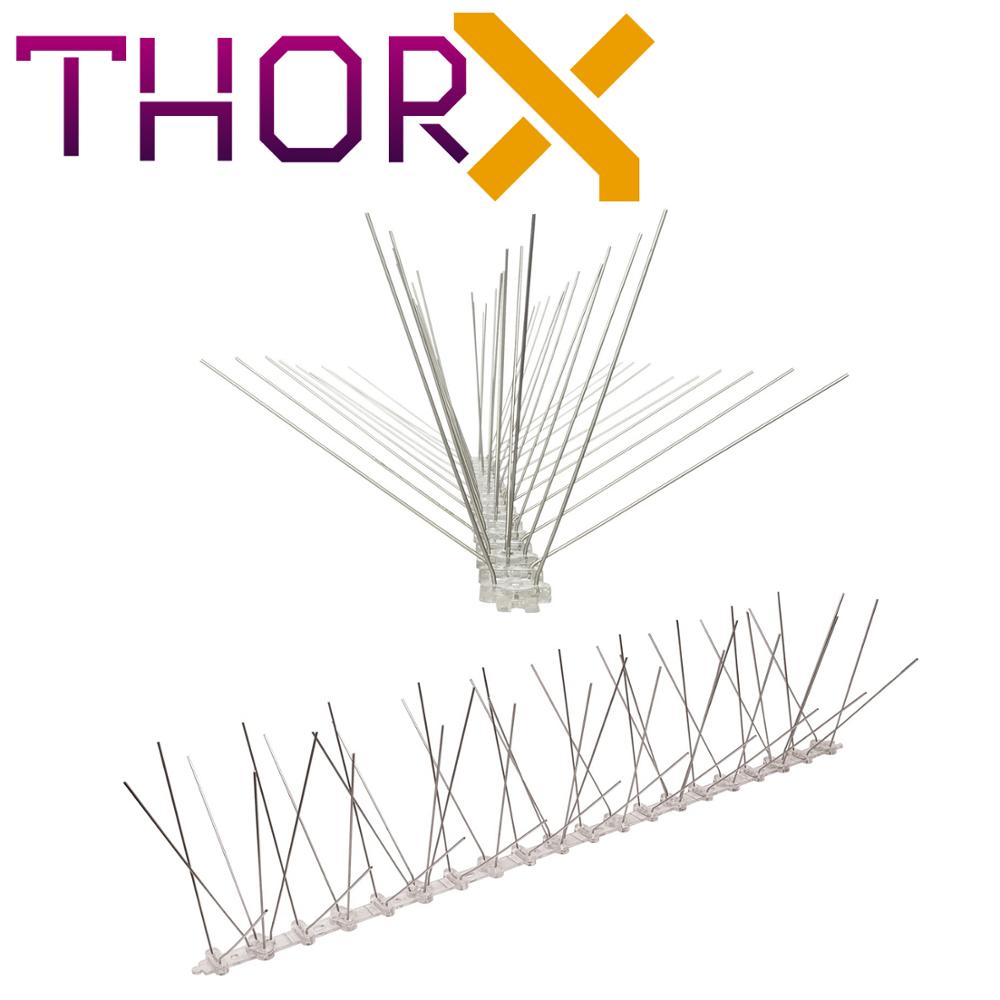MH-05-TP 5 Row Pigeon Spikes Bird Spike On Polycarbonat Base - High Quality Solution For Bird Control Spikes