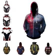 Avengers 4 hoodies Sweatshirt Movie Endgame Superhore Cosplay Costume Men Jacket Hooded Top New