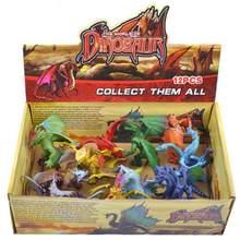 Alta qualidade colorido dragão ação diecast colorido dragão simulação brinquedos decoração de natal para crianças decoração de natal