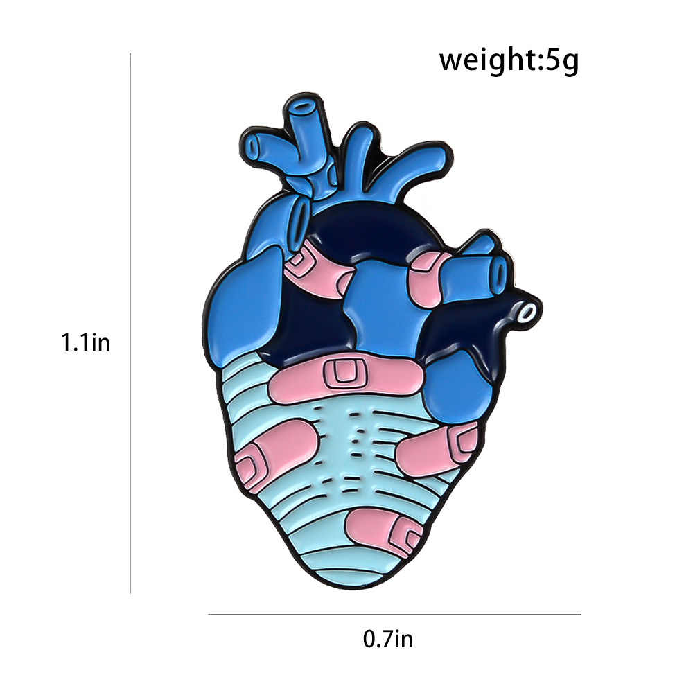 Kartun Lencana Bantuan Band Jantung Bros untuk Wanita Kreatif Menyembuhkan Terluka Jantung Enamel Pin Perhiasan Tas Ransel Aksesoris