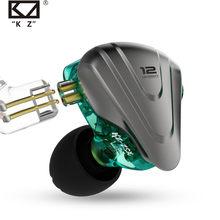KZ ZSX Terminator Metal In Ear Earphones 12 Units Hybrid 5BA 1DD HIFI Bass Earbuds Headphones Noise Cancelling Headset Monitor