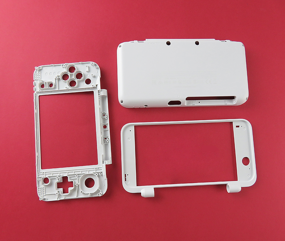 White Color Replacement Shell Housing Middle Plastic Frame For NEW 2DSXL For NEW 2DSLL Case Shell C Part