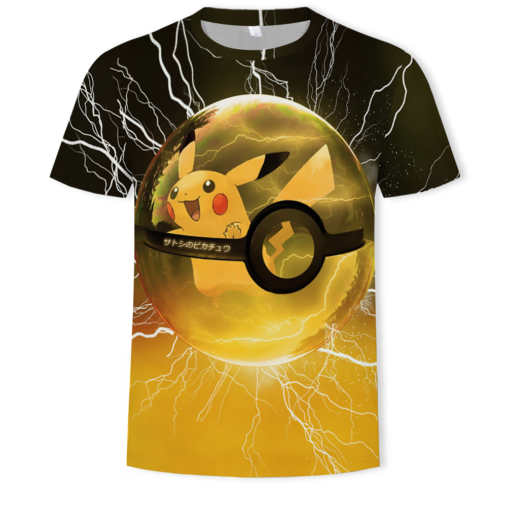 3D Movie <font><b>Detective</b></font> Pokemon <font><b>Pikachu</b></font> T-shirt For Men Women <font><b>Tshirts</b></font> Fashion Summer Casual Tees Anime Cartoon Clothes Cute Costume image