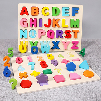 Wooden Toys Children's Digital Operation Grasping Board Shape English Alphabet Cognitive Kids Early Educational Baby Toys цена 2017