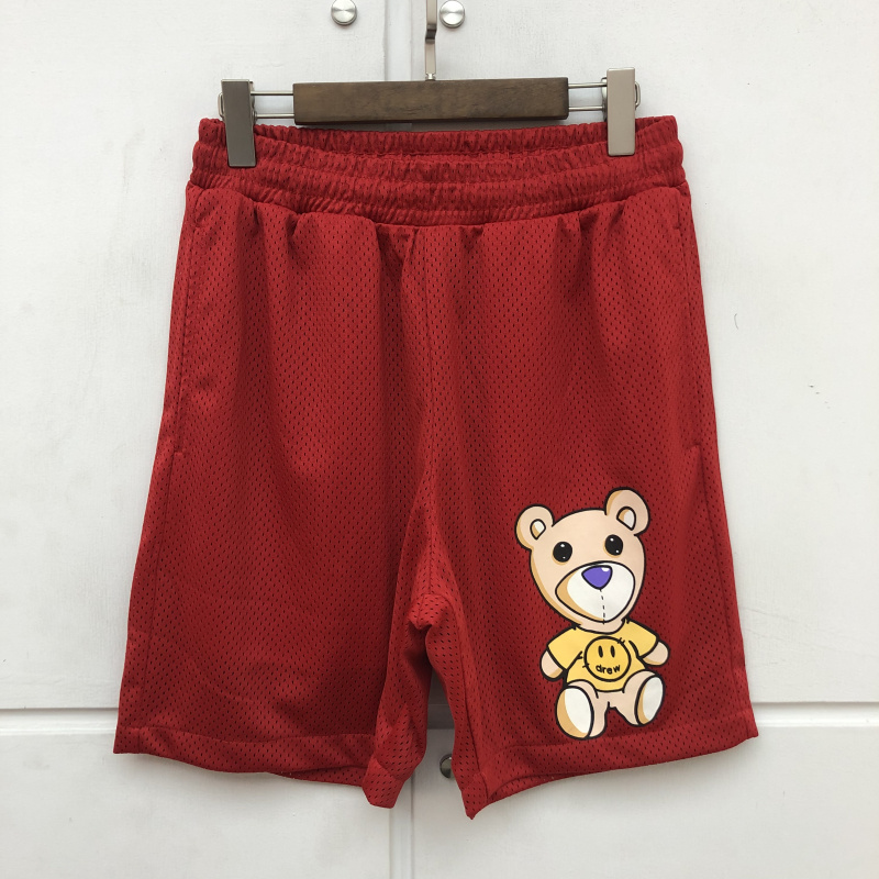 New Drew House Sleep Wear Bear Shorts Men Women Couples Just Bieber Beach Shorts Mens