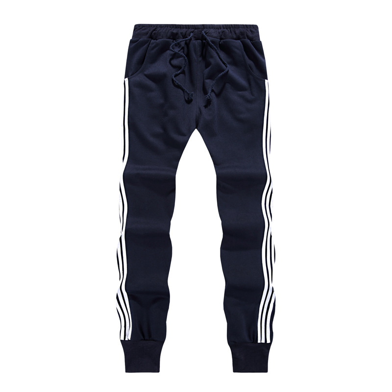 2019 Autumn New Style MEN'S Sports Pants Teenager Students Slim Fit Beam Leg Three Bars Trousers A Generation Of Fat