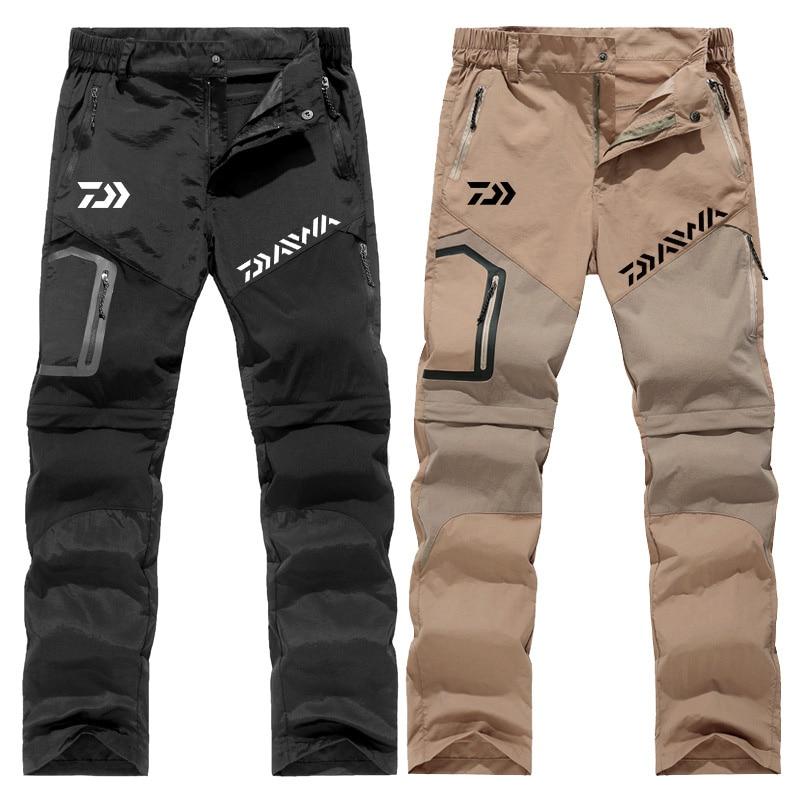 Spor ve Eğlence'ten Balıkçılık Giysileri'de Daiwa Balıkçılık Yürüyüş Taktik Su Geçirmez Pantolon Dağ Tırmanma Hızlı Kuru Balıkçılık Trekking Softshell Pantolon Yeni Wanderhose title=