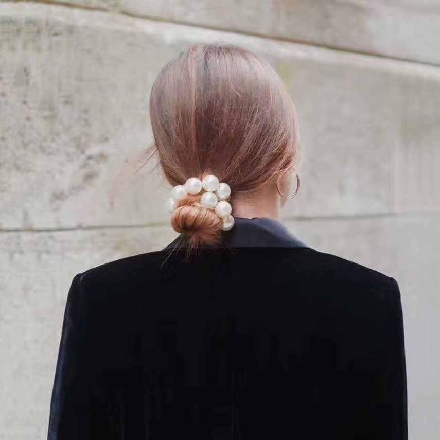 Жемчужиной упругой ленты для волос модные ободки для волос резинка для волос Веревка головы аксессуары для волос, резинки для Для женщин