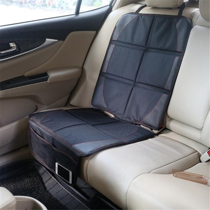 Protetor de assento de carro grande auto protetores de assento de carro para criança assento de segurança do bebê grosso estofamento comer com organizador bolsos