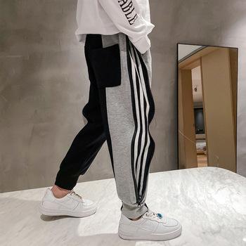 Spodnie chłopięce jesień w nowym stylu spodnie dziecięce duże spodnie dresowe dziecięce luźne spodnie typu Casual spodnie dresowe tanie i dobre opinie DancingBear Chłopcy COTTON 25-36m 4-6y 7-12y CN (pochodzenie) Wiosna i jesień REGULAR Pełna długość Dobrze pasuje do rozmiaru wybierz swój normalny rozmiar