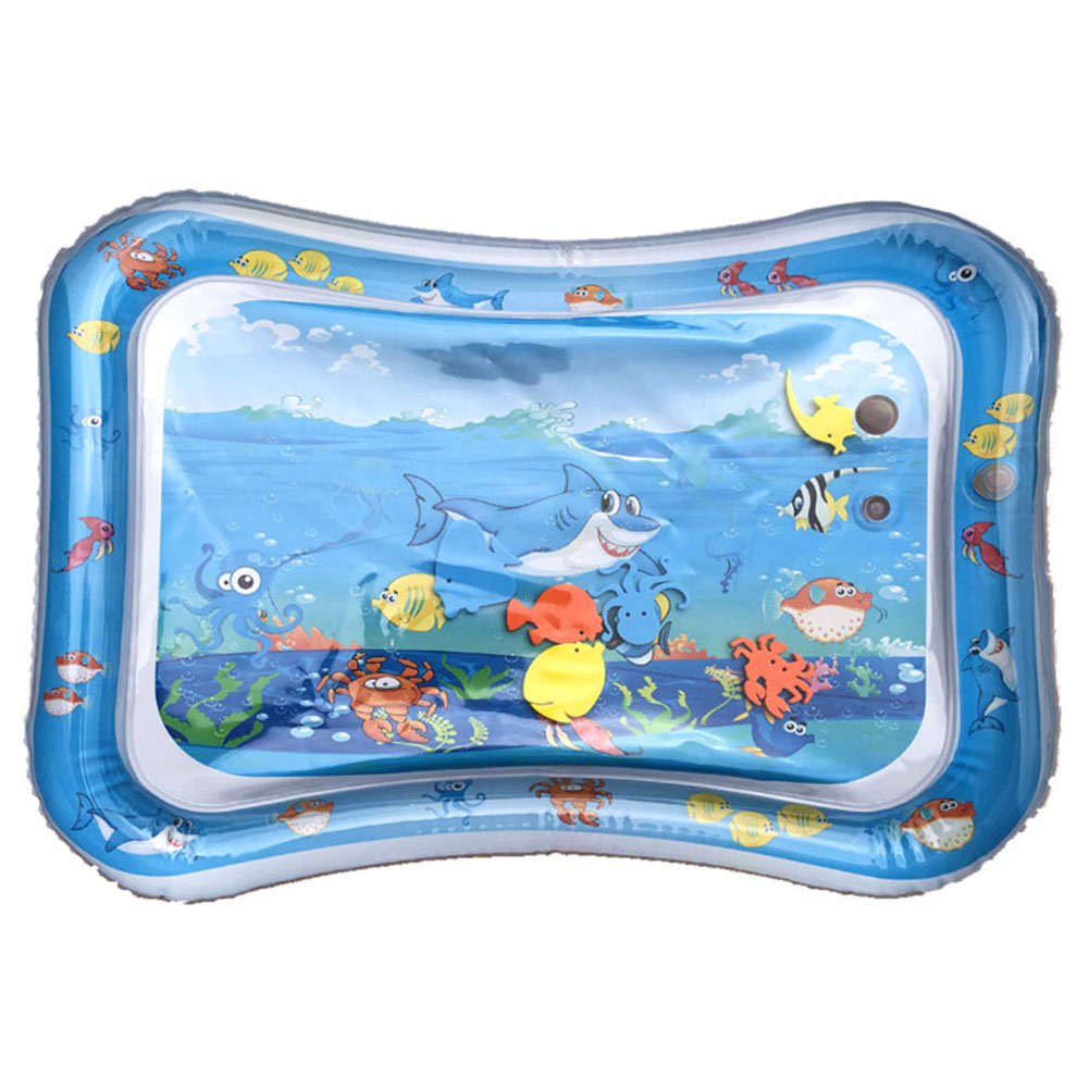 Baby Kids Water Play Mat Inflatable Thicken PVC Inflation Cushion Water Pad Outdoor Party Play Game Splash Pat Mat