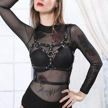 UYEE imbracatura per il corpo in pelle Sexy gabbia per il petto da donna Lingerie Sexy giarrettiera gotica reggiseno imbracatura vita erotica calza avvolgente