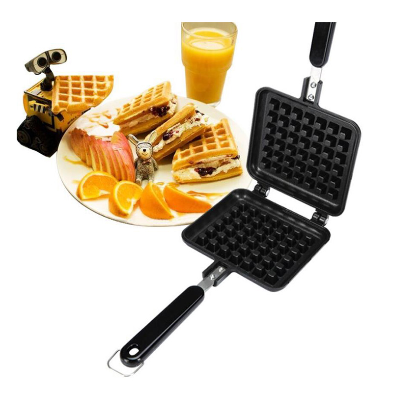Portable Non Stick Waffle Maker Machine With Made Of Aluminum Alloy For Home Kitchen 3