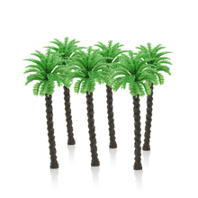 50pcs 3540455570mm height model green palm trees toys miniature architecture sceshore color plants for diorama beach scenery
