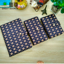 Leather Folder Padfolio Wide Use Journal book Cover For Notebook Diary Multi-Function Wallet Free Shipping