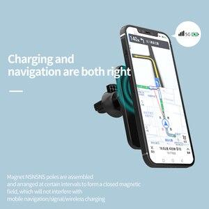Image 4 - 15W חדש מגנטי אלחוטי מטען לרכב הר עבור iPhone 12 פרו מקס מיני אלחוטי מהיר טעינה אלחוטי מטען לרכב טלפון בעל