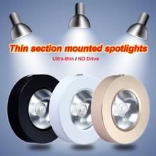 Ультра тонкий беспилотный COB светодиодный светильник 3 Вт/5 Вт/7 Вт/10 Вт/15 Вт 220 В Светодиодный точечный светильник поверхностного монтажа светильник освещение