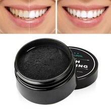 30g blanqueamiento de dientes polvo de carbón blanqueador de dientes polvo de carbón de bambú activado pasta de dientes Tartar eliminación de manchas TSLM1