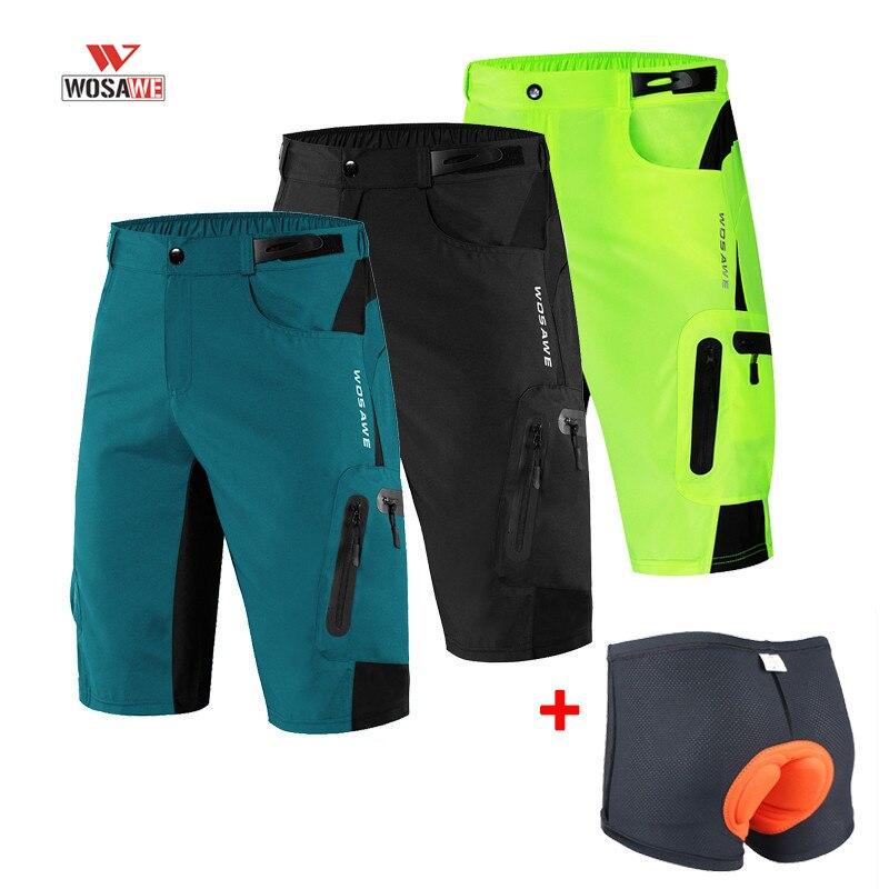 WOSAWE Short de cyclisme été respirant court vtt Short vélo Shorts hommes course vélo pantalon équitation Shorts pantalon