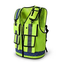 Reflective Vest Workwear Provides High Visibility Day Night Running Cycle Warning Safety Vest цена 2017