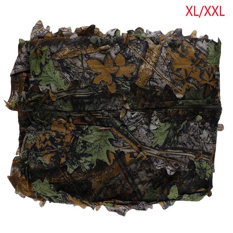 Caccia Ghillie Suit 3D Camo Leaf Camouflage Jungle Woodland Birdwatching Caccia CS Gioco di Abbigliamento