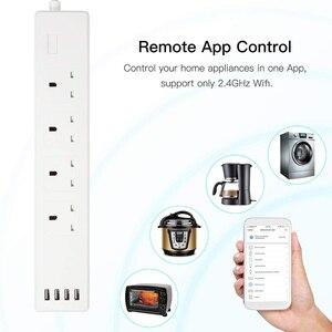 Image 2 - WiFi inteligentna listwa zasilająca ochronnik przeciwprzepięciowy UK gniazdka wtykowe 6ft przedłużacz zdalnego sterowania Tuya Smartlife Alexa Google Home