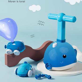 NEW Power Cute Dolphin Shape Aerodynamic Balloon Car Children Fun Educational Science Experimen Toy Kids Gift image