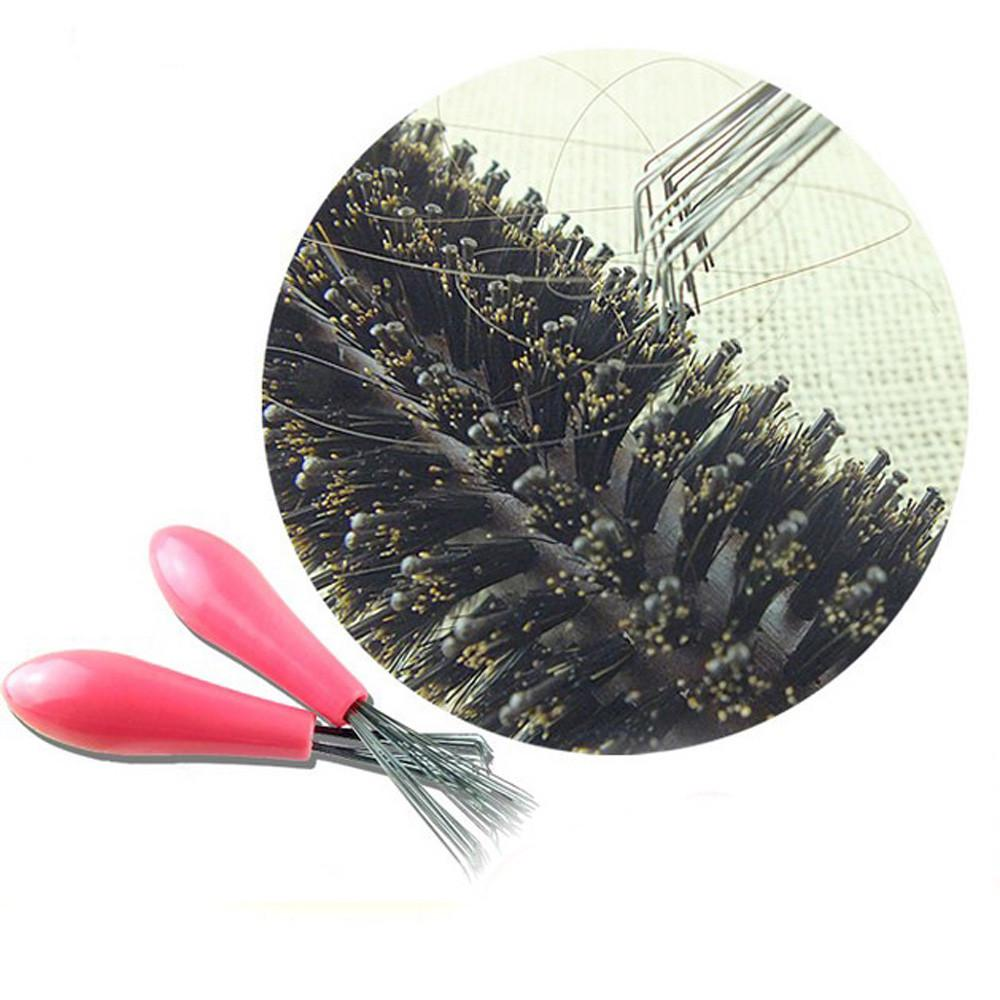 Купить с кэшбэком 2019 1PC New Mini Hair Brush  Cleaner Magic Handle Shower Salon Styling Tamer Tool Hair Makeup Hair Comb