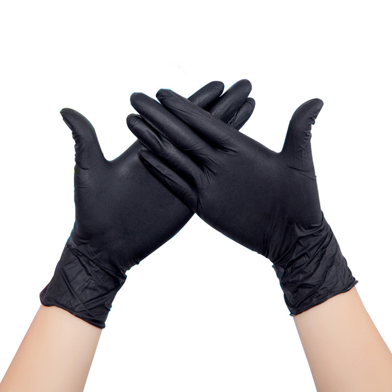 100pcs Black Disposable Latex Gloves Garden Gloves For Home Cleaning Rubber Catering Food Gloves Tattoo Gloves