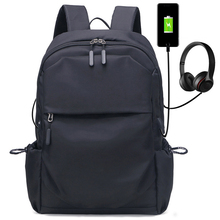 Man Backpack 17 inch Laptop USB Charging vintage laptop bags for men backpack Casual Business Oxford Male Bag Anti-theft Mochila