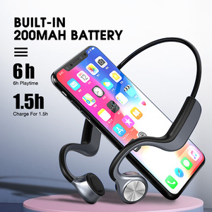 Image 4 - Auricolare Bluetooth 5.0 a conduzione ossea cuffie Wireless a orecchio aperto con microfono a riduzione del rumore auricolare IPX5 per la corsa in bicicletta