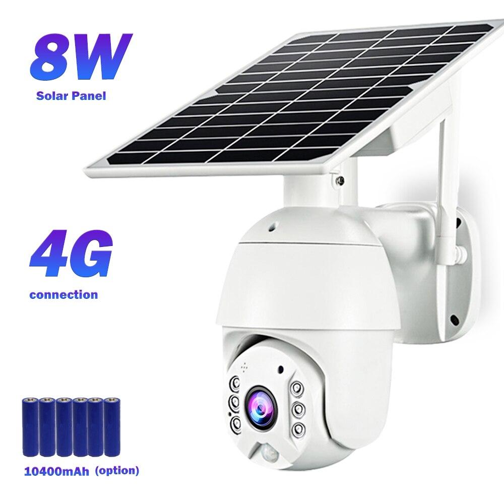 IP-камера видеонаблюдения, 4G, 1080P, HD, Wi-Fi, 8 Вт, солнечная панель