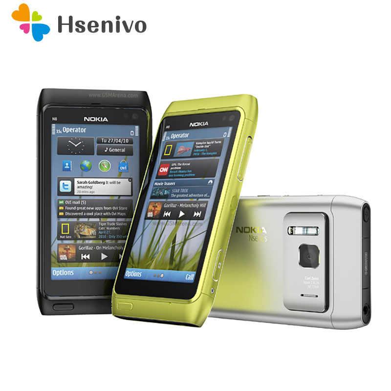 Phone Mobile 5 Original 100 3g N8 Wifi Nokia 3 Gps Camera 12mp