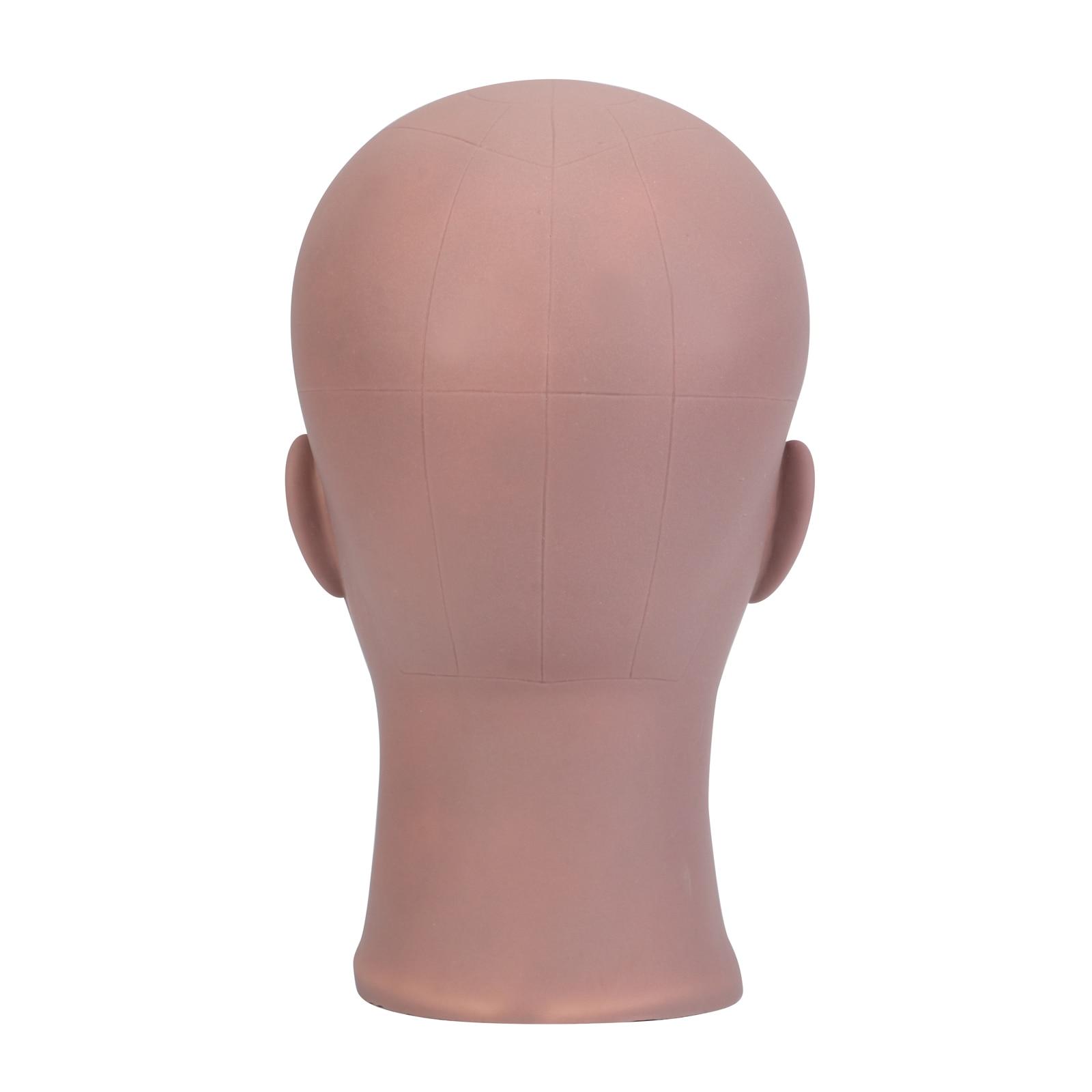 careca com suporte cosmetologia prática manequim formação