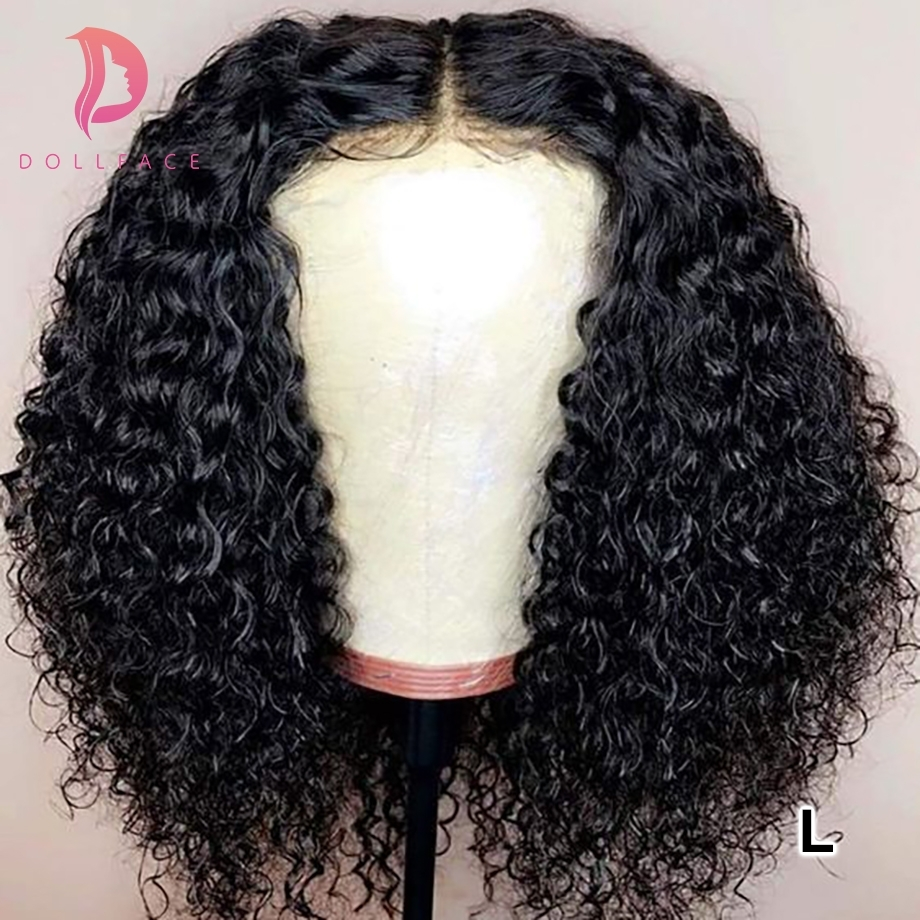 Brazilian Short Curly Lace Front Human Hair Wigs For Black Women Bob Wig With Baby Hair Pre Plucked 13x4 130% Density Low Ratio