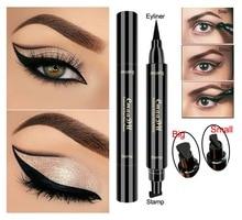 TSMC big Seal Stamp Liquid Eyeliner Pen Waterproof Fast Dry Black Eye Liner Pencil With Eyeliner Cosmetic Double-ended Eyeliner