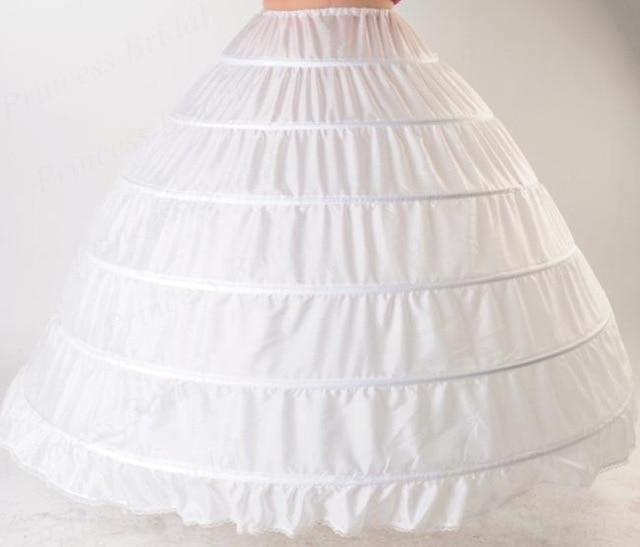 Six Steel Crinoline Wedding Dress Tutu Skirt Costume Slip Dress 6 Circle Non-Yarn Extra-large Pannier Plant