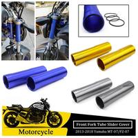 Motorcycle CNC Front Fork Tube Slider Cover for 2014 2015 2016 2017 2018 Yamaha MT FZ 07 MT 07 FZ 07 MT07 FZ07 Motor Accessories