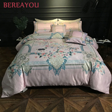 6pcs Luxury Bedding Sets Cotton European Style Printing Duvet Cover Red Wedding Bed Sheet King Bed Set Boy Room ededron casal